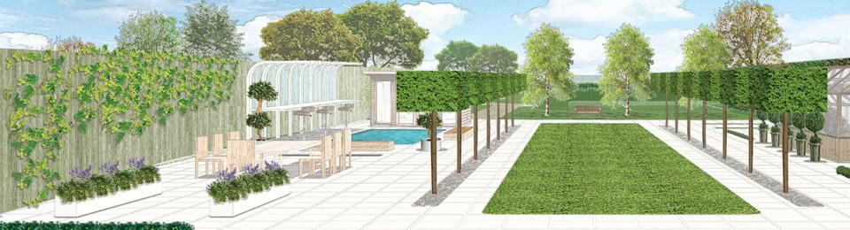 Garden design plans and drawings